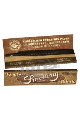 Smoking Brown Unbleached King Size - Box (Display)