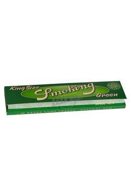 Smoking King Size Green Hemp Paper - Box (Display)