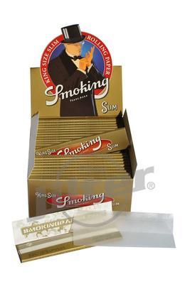 Smoking King Size Slim Gold - Box (Display)