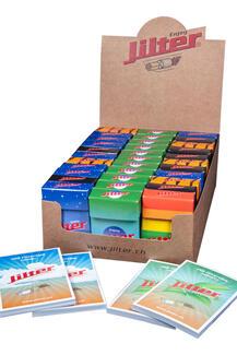 Jilter® Display-Box mit 33 Klick Schachteln enthalten je 42 Jilter® Zigarettenfilter plus Filtertips