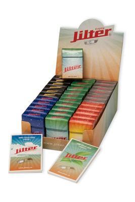 Jilter Display-Box mit 33 Klick Schachteln enthalten je 42 Jilter Zigarettenfilter plus Filtertips
