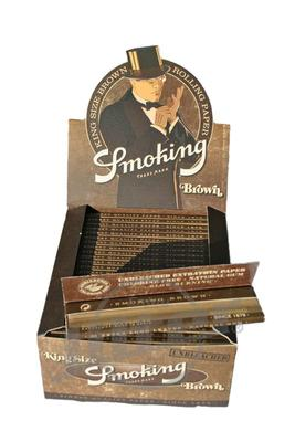 Smoking Brown Unbleached King Size - Box (Display)