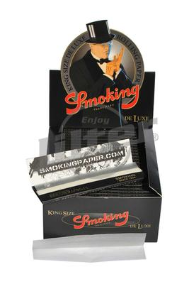 Smoking De Luxe Black King Size - Box (Display)